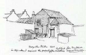 Hogarth's studio by Dawson